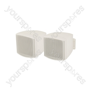 """Compact Background Speakers 2.5"""" White - C25VW 2.5inch Loudspeakers Pair - C25V-W"""