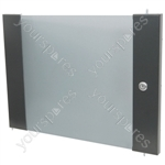 Lockable Toughened Glass Doors - - 8U