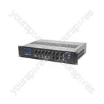 2-zone Mixer-amplifier + USB/SD/FM/Bluetooth - RM1202 120W USB/SD/FM/BT