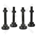 Adjustable Feet for Rack Cabinets - - Set of 4 - RCF-4
