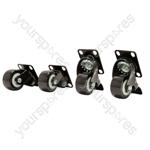 Castors for Rack Cabinets - - Set of 4 - RCC-4
