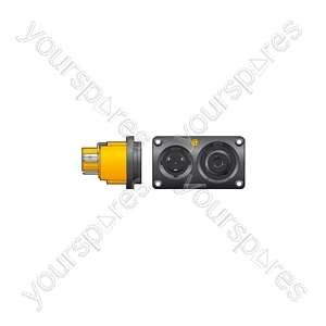 NAC3PX Powercon Duplex Chassis Connector