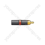 Neutrik® NYS373-2/-9 Professional Phono Plugs - NYS373-2, RCA red ID band