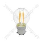 LED Golfball Filament Lamp - 4W LED - B22 WW