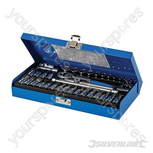 Socket Wrench Set 1 4 Quot Drive Metric 38pce 38pce 633493