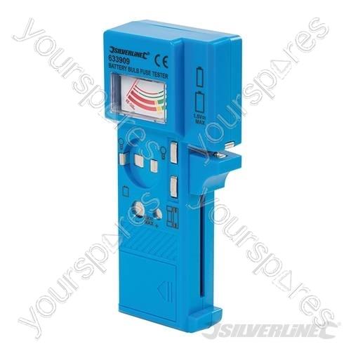 battery bulb fuse tester 1 5v 9v 633909 by silverline. Black Bedroom Furniture Sets. Home Design Ideas