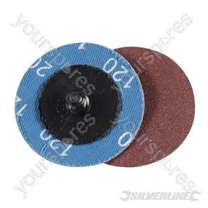 50mm Quick-Change Sanding Discs Set 5pce - 120 Grit