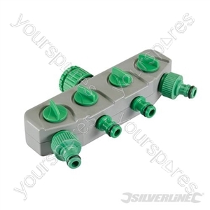 """4-Way Tap Connector - 3/4"""" & 1/2"""" Male"""