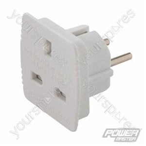 UK to EU Travel Adaptor 230V - 13A - 230V