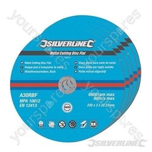 Metal Cutting Discs Flat 5pk - 230 x 3 x 22.23mm