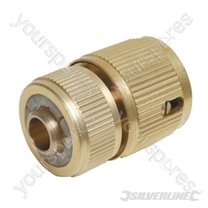 "Quick Connector Auto Stop Brass - 1/2"" Female"