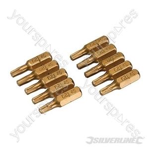 T20 Gold Screwdriver Bits 10pk - T20