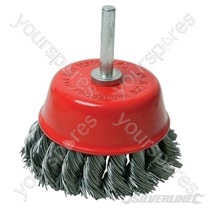 Rotary Steel Twist-Knot Cup Brush - 75mm