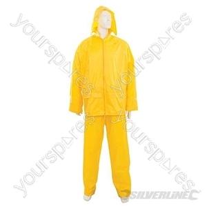 "Rain Suit Yellow 2pce - M 72 - 126cm (28 - 50"")"