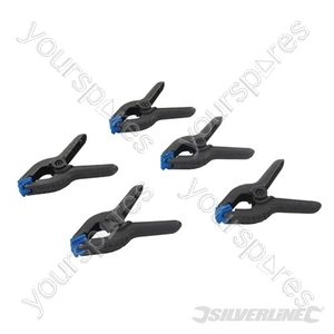 Spring Clamps 5pk - 60mm Jaw