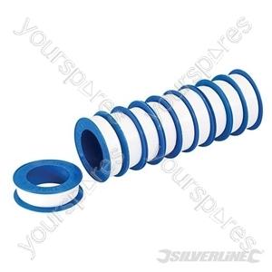 White PTFE Thread Seal Tape 10pk - 12mm x 12m