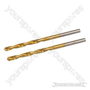 HSS Titanium-Coated Drill Bits 2pk - 3.2mm