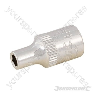 "Socket 1/4"" Drive 6pt Metric - 4mm"