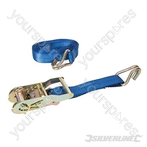 Ratchet Tie Down Strap J-Hook 4m x 27mm - Rated 400kg Capacity 1200kg