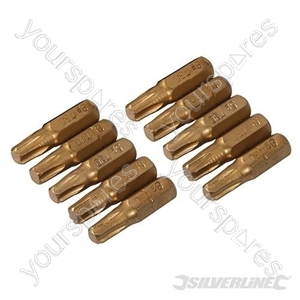 T30 Gold Screwdriver Bits 10pk - T30
