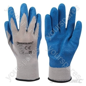 Latex Builders Gloves - Large