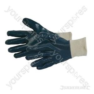 Full Coat Interlock Nitrile Gloves - Large