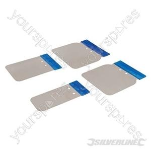 Stainless Steel Body Filler Application Set 4pce - 50, 80, 100 & 120mm