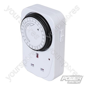 Plug-In Mechanical Timer 240V - 24 Hour