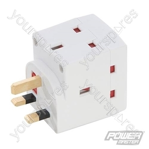 3-Gang Socket Adaptor 240V - 13A 240V