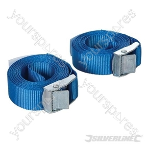 Cam Buckle Tie Down Strap 2.5m x 25mm 2pk - 2.5m x 30mm