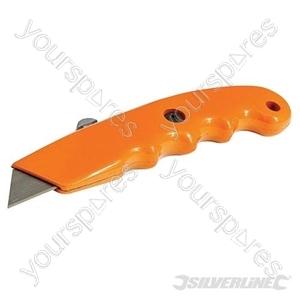 Retractable Hi-Vis Grip Knife - 140mm