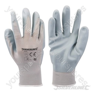 Foam Nylon Nitrile Gloves - Large