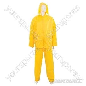 """Rain Suit Yellow 2pce - L 74 - 130cm (29 - 51"""")"""