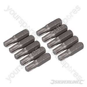 T30 Cr-V Screwdriver Bits 10pk - T30