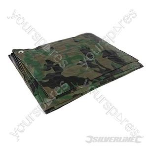 Camouflage Tarpaulin - 2.4 x 3m