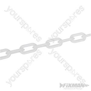 Plastic Chain - 6mm x 5m White