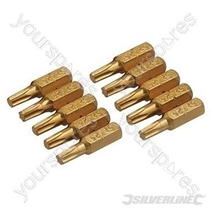T25 Gold Screwdriver Bits 10pk - T25