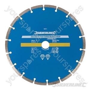 Concrete & Stone Cutting Diamond Blade - 230 x 22.23mm Segmented Rim