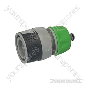 """Soft-Grip Water Stop Hose Quick Connector - 1/2"""" Female"""