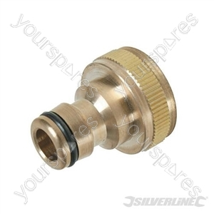 """Tap Connector Brass - 3/4"""" BSP - 1/2"""" Male"""