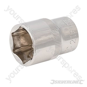 "Socket 1/2"" Drive 6pt Metric - 21mm"