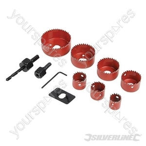 Holesaw Kit 11pce - 21 - 64mm Dia