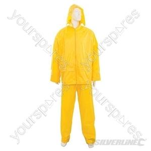 "Rain Suit Yellow 2pce - XL  76 - 134cm (30 - 53"")"