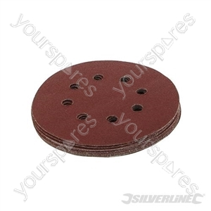 Hook & Loop Discs Punched 125mm 10pk - 125mm 80 Grit