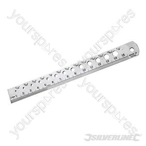 Steel Rule & Drill Guide - 150mm