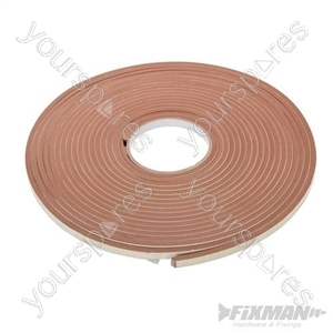 Self-Adhesive E-Profile Weather Strip - 3 - 5mm / 15m Brown