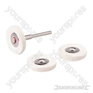 Rotary Tool Loose Leaf Buffing Wheel Kit 4pce - 25mm Dia