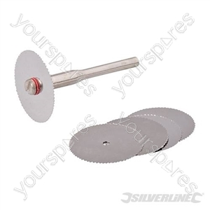 Rotary Tool HSS Saw Blade Set 6pce - 22mm Dia