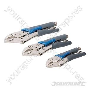 Self Locking Soft-Grip Pliers Set 3pce - 3pce