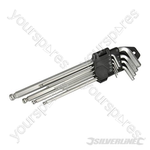 Hex Key Ball End Expert Set 9pce - 1.5 - 10mm